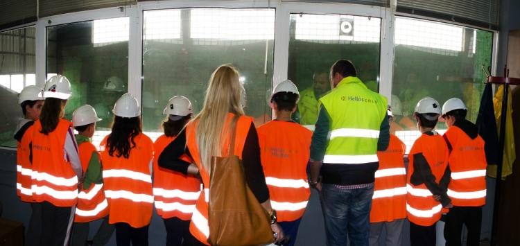Οι μαθητές της ΣΤ ́ Δημοτικού του σχολείου του Στρατωνίου κάνουν μάθημα εργοστάσιο εμπλουτισμού