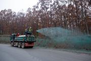 Εφαρμογή υδροσποράς στο εργοτάξιο των Σκουριών