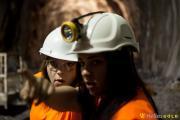 Φοιτητές εν ώρα εργασίας στο πλαίσιο του Προγράμματος Θερινής Απασχόλησης στα Μεταλλεία Κασσάνδρας